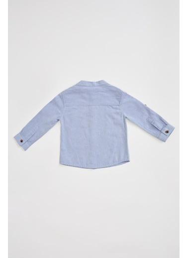 DeFacto Erkek Bebek Hakim Yaka Pamuklu Gömlek Mavi